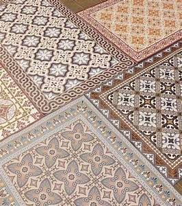 Tapis Vinyl Carreaux De Ciment : tapis vinyl beija flor deco carreaux de ciment flores ~ Melissatoandfro.com Idées de Décoration