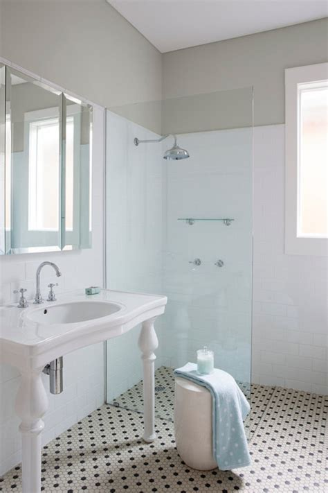 tiled shower shelf ideas open shower transitional bathroom ici dulux winnow