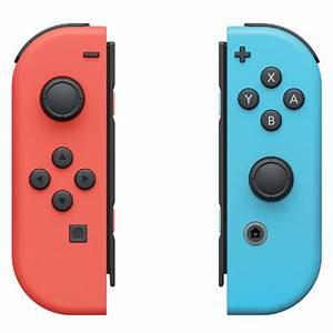 Nintendo Switch Neon Red Joy Con L and Neon Blue Joy Con