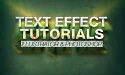 30 Best Text Effect Illustrator & shop Tutorials