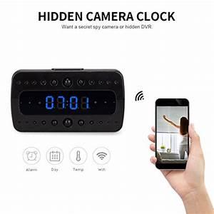Fredi Hd 1080p Wifi Hidden Camera Alarm Clock Night Vision