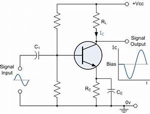 working of npn transistor amplifier With pnp transistor circuit with voltmeters right pnp transistor circuit