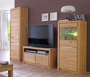 Wohnzimmer Eiche Massiv : wohnwand eiche massiv bianco 3 teilig medienwand tv wand wohnzimmer pisa 26 4251177610592 ebay ~ Markanthonyermac.com Haus und Dekorationen