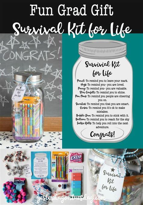 fun grad gift survival kit  life  cute  budget
