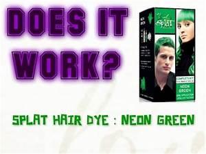 Splat Neon Green Hair Dye Review