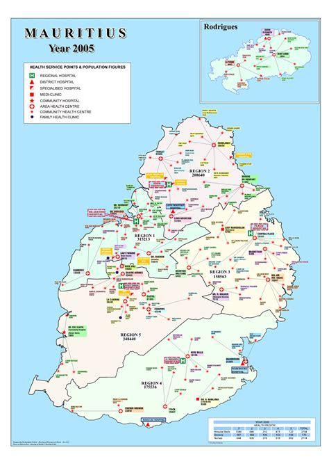 location bureau ile de carte des hôpitaux et cliniques de l ile maurice