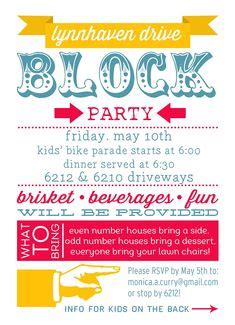 throw  block party printable invitation template