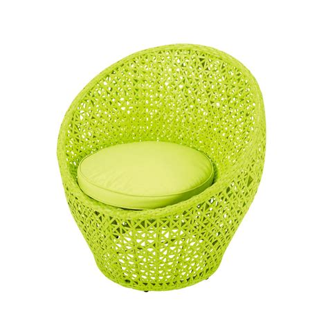 fauteuil de jardin en r 233 sine tress 233 e vert anis durban