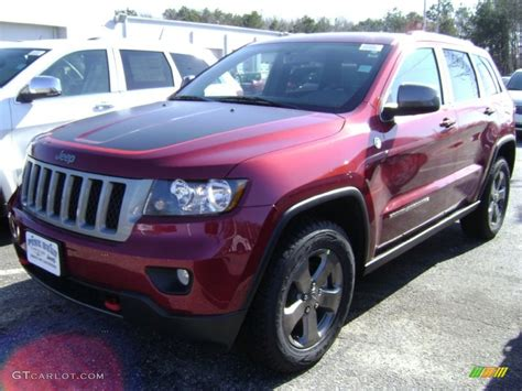 jeep cherokee trailhawk red 2013 deep cherry red crystal pearl jeep grand cherokee