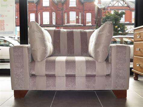 minktaupe striped  snuggle chair loveseat armchair