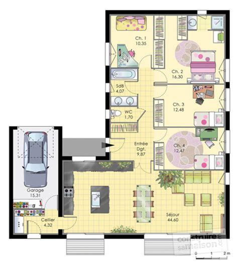 Construire Sa Maison Plan Maison De Plainpied D 233 Du Plan De Maison De