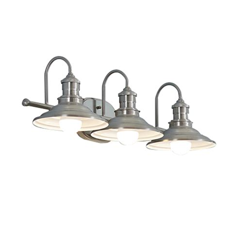 farmhouse style vanity lights shop allen roth hainsbrook 3 light 7 48 in antique