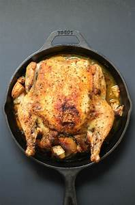 easy cast iron whole roasted chicken