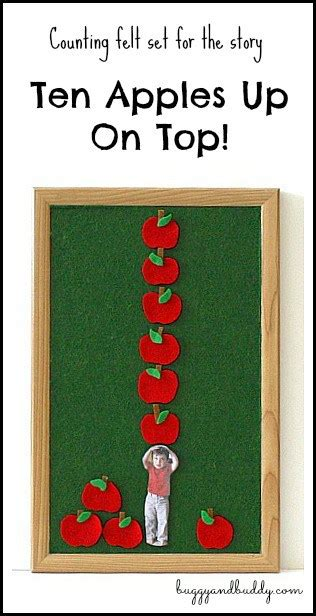 Personalized Felt Counting Set with Ten Apples Up On Top ...