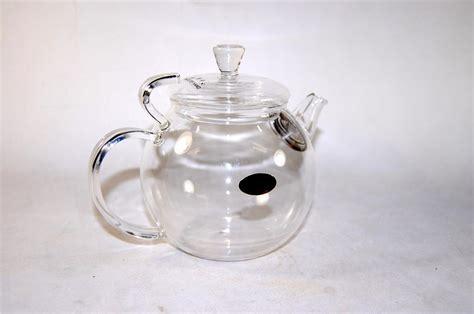 Hand Blown Glass Tea Pot Removable Strainer Infuser Nib