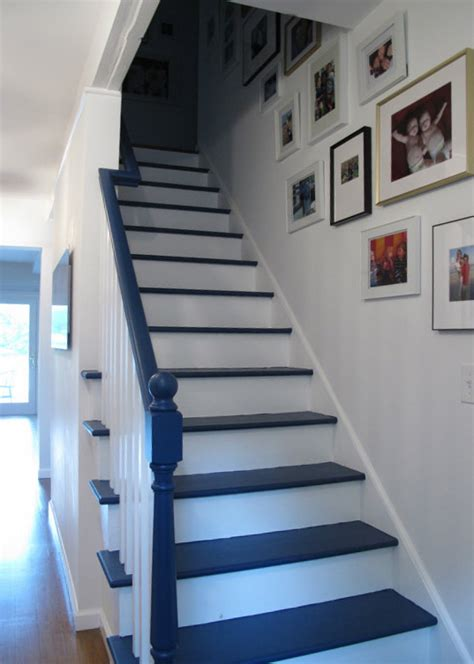 Blue Painted Stairs 6 Ways