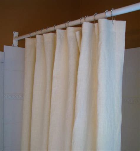 Organic Shower Curtain Bathroom Hemp Natural