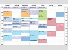 Example Student Schedule Aspergers & LD Transition Programs