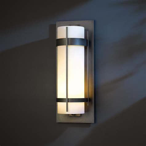 hubbardton forge 305895 banded led exterior wall lighting sconce hub 305895