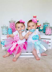 Baby Girl Twin Birthday Outfits Twin Girls 1st Birthday