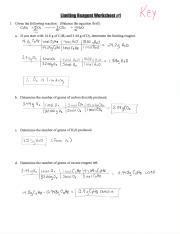 limiting reagent worksheets 1 2 limiting reagent worksheet 1 1 given the following reaction