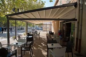 terrasse demontable pour restaurant aix en provence With rideau exterieur pour pergola 11 velum pour les cafes hatels et restaurants rossi pro