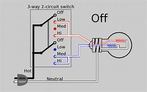 Three Way Electrical Switch Working Animation