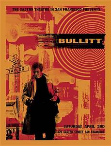 Steve McQueen Bullitt Silkscreen Movie Poster | eBay