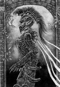 Elven, Centurion, Pencil, Drawing, By, Josh, Sarver
