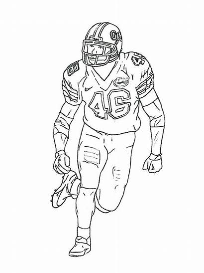Coloring Football Player Players Pages Printable Nfl