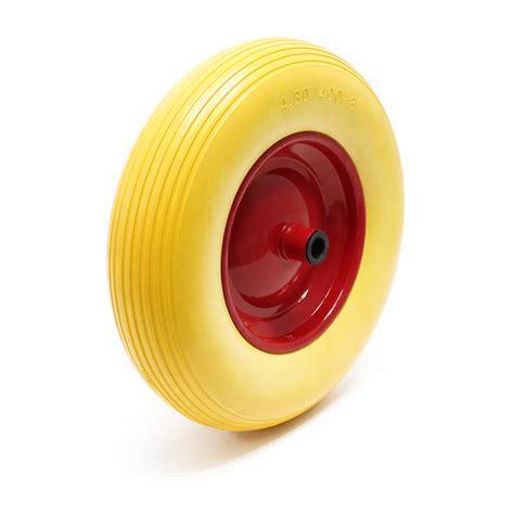 roue complète de brouette en polyuréthane increvable