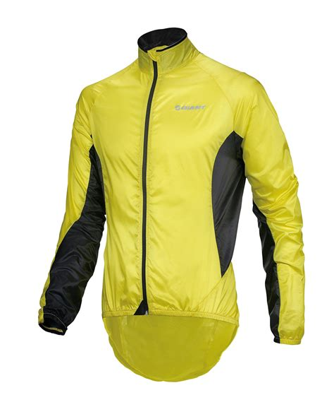Giant Super Light Cycling Wind Jacket Yellow H2 Gear