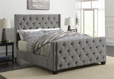 King Bedroom Sets For Sale With Mattress by Palma Light Grey Upholstered King Bed 300708ke