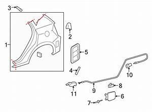 Pontiac Vibe Fuel Filler Door Release Cable Clip
