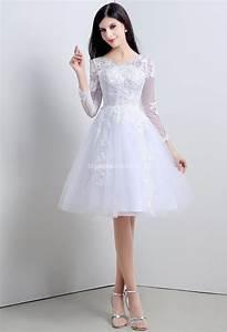 Robe Courte Mariée : robe de mari e courte dentelle vaporeuse ~ Melissatoandfro.com Idées de Décoration