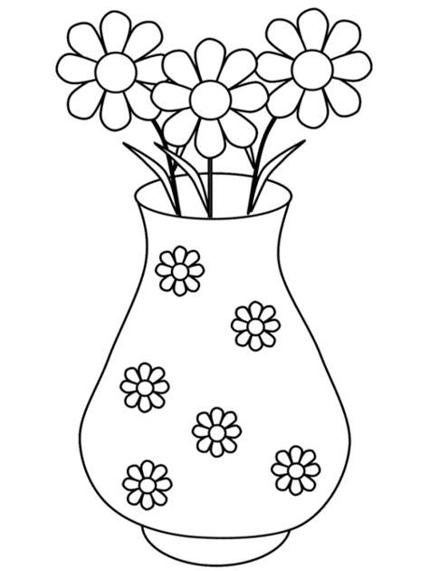 malvorlagen zum drucken ausmalbild vase mit blumen kostenlos