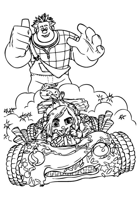 Coloring Pictures by Wreck It Ralph Coloring Pages
