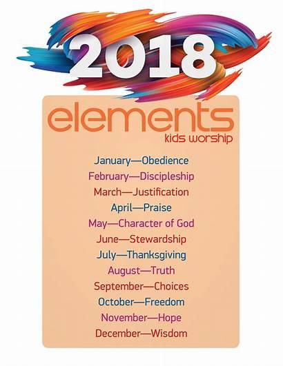 Elements Worship Scope Sequence Curriculum Children