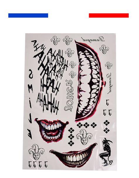 Tatouage Temporaire Suicide Squad Joker 3d  Mon Petit