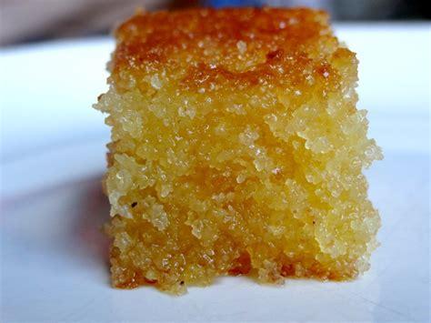 a cuisiner basboosa soudan gâteau de semoule au sirop la