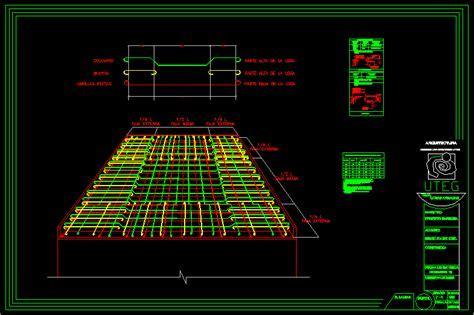 Armadura losa de concreto armado en AutoCAD   CAD (57.33