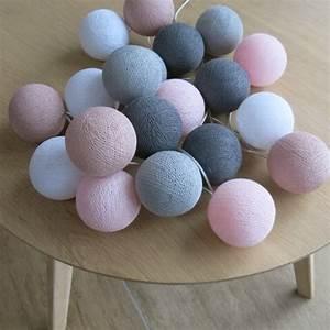 Cotton Balls Lichterkette : cotton ball lights 20 er lichterkette rosa altrosa wei grau b lle led ku ebay ~ Eleganceandgraceweddings.com Haus und Dekorationen