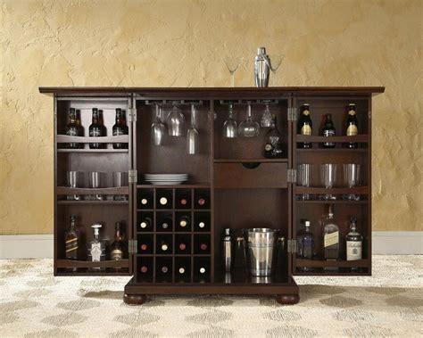 Home Bar Cabinet - portable home bar wine rack cabinet expandable pub