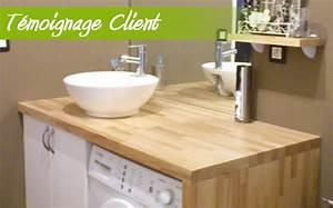 plan de travail salle de bain chaioscom With plan de travail en bois pour salle de bain