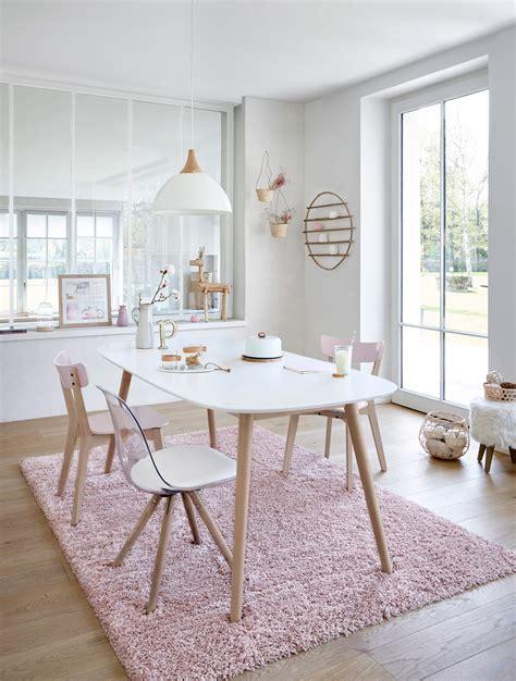 salle  manger scandinave  deco pastel en