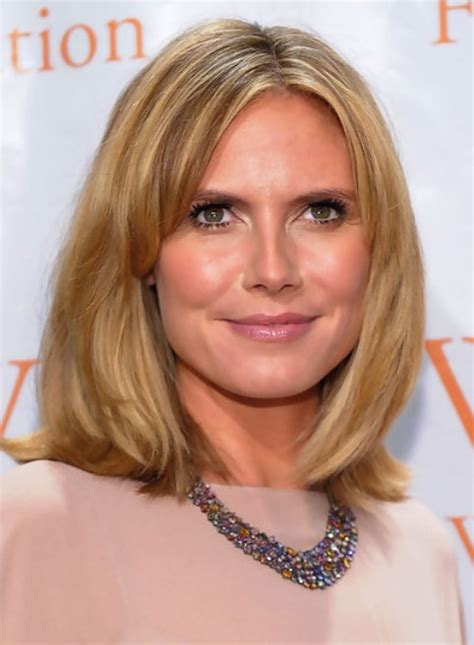 heidi klum medium length hairstyle straight bob pretty