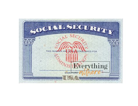 A social security card contains a unique number, a social security number (ssn), issued to you by the social security administration (ssa) after you every working person and taxpayer in the united states must have a social security number / ssn. Blank Social Security Number PSD Template | Everythingallhere Store