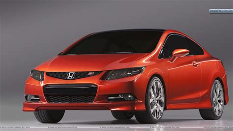 Honda Civic Si Red Color Wallpaper