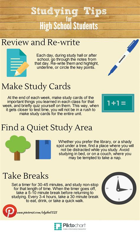 Study Tips For High School Students (by Me!)  Surviving High School  Pinterest  High School