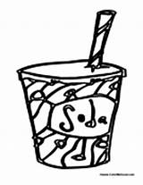 Soda Coloring Pop Pages Cup Drinks Colormegood sketch template